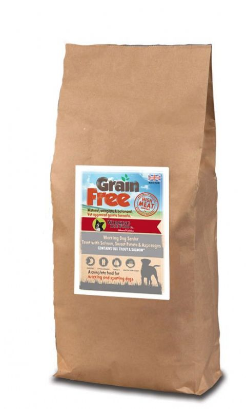 Grain Free Senior Working Dog Food Trout With Salmon